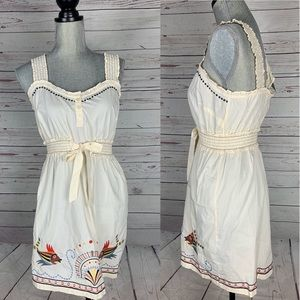 Anthropologie Sleeveless Embroidered Dress size S